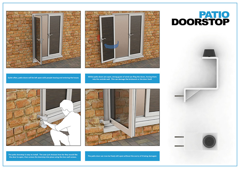 outside patio door. Why Fit Doorstops? Outside Patio Door A